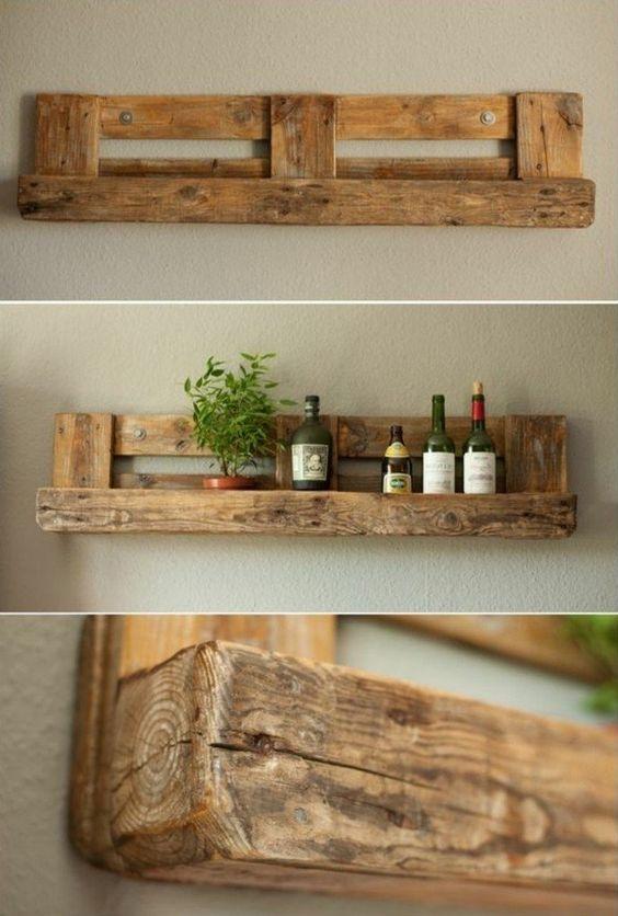 étagères en bois faites maison